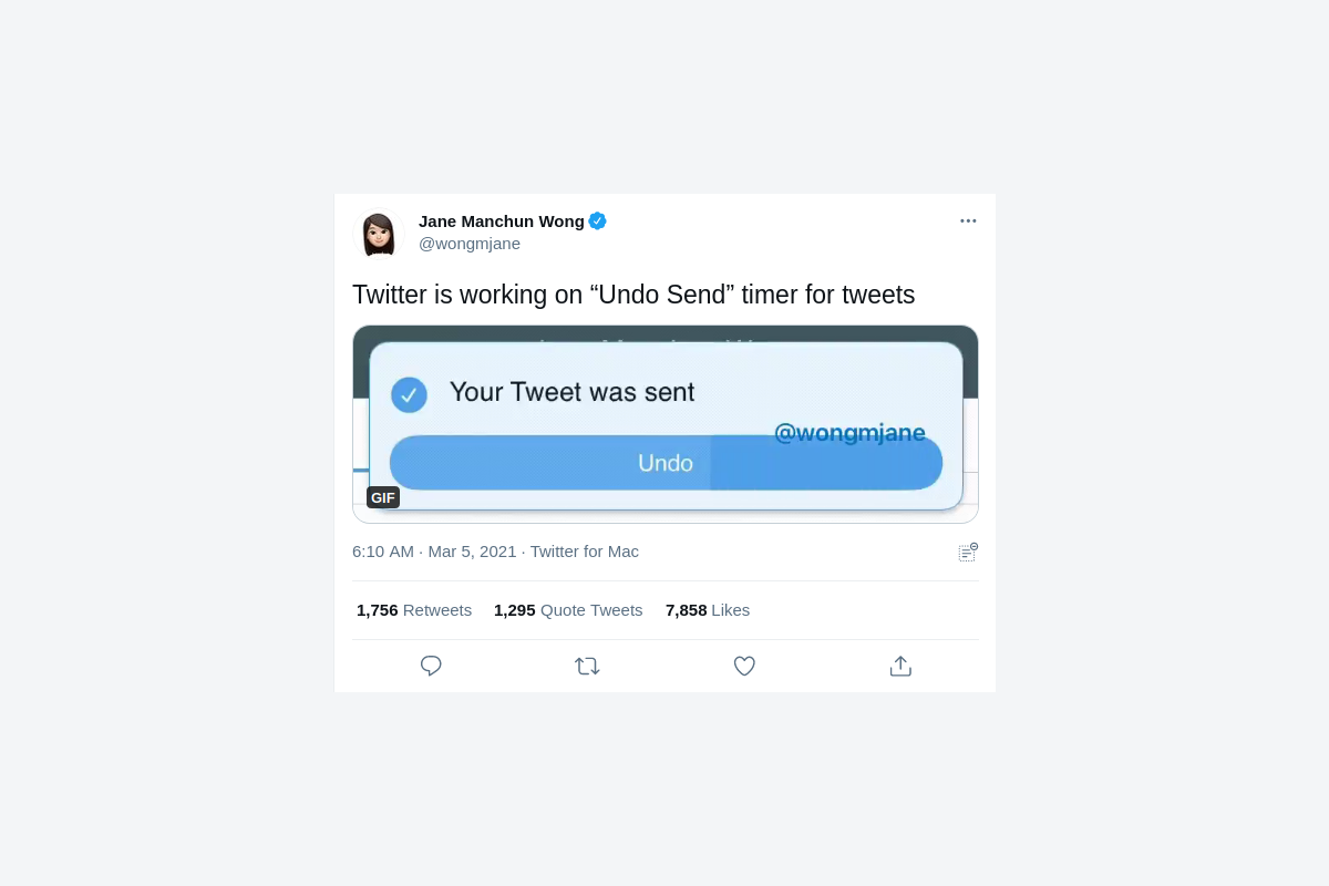 Twitter is testing an 'Undo Send' button for tweets