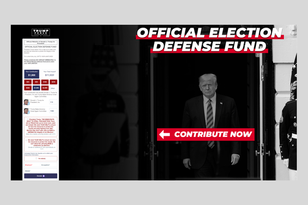 Election legal fund donations to Trump would also go towards paying off his campaign's debt