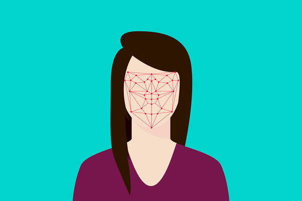 Flat Recognition Facial Face Woman System