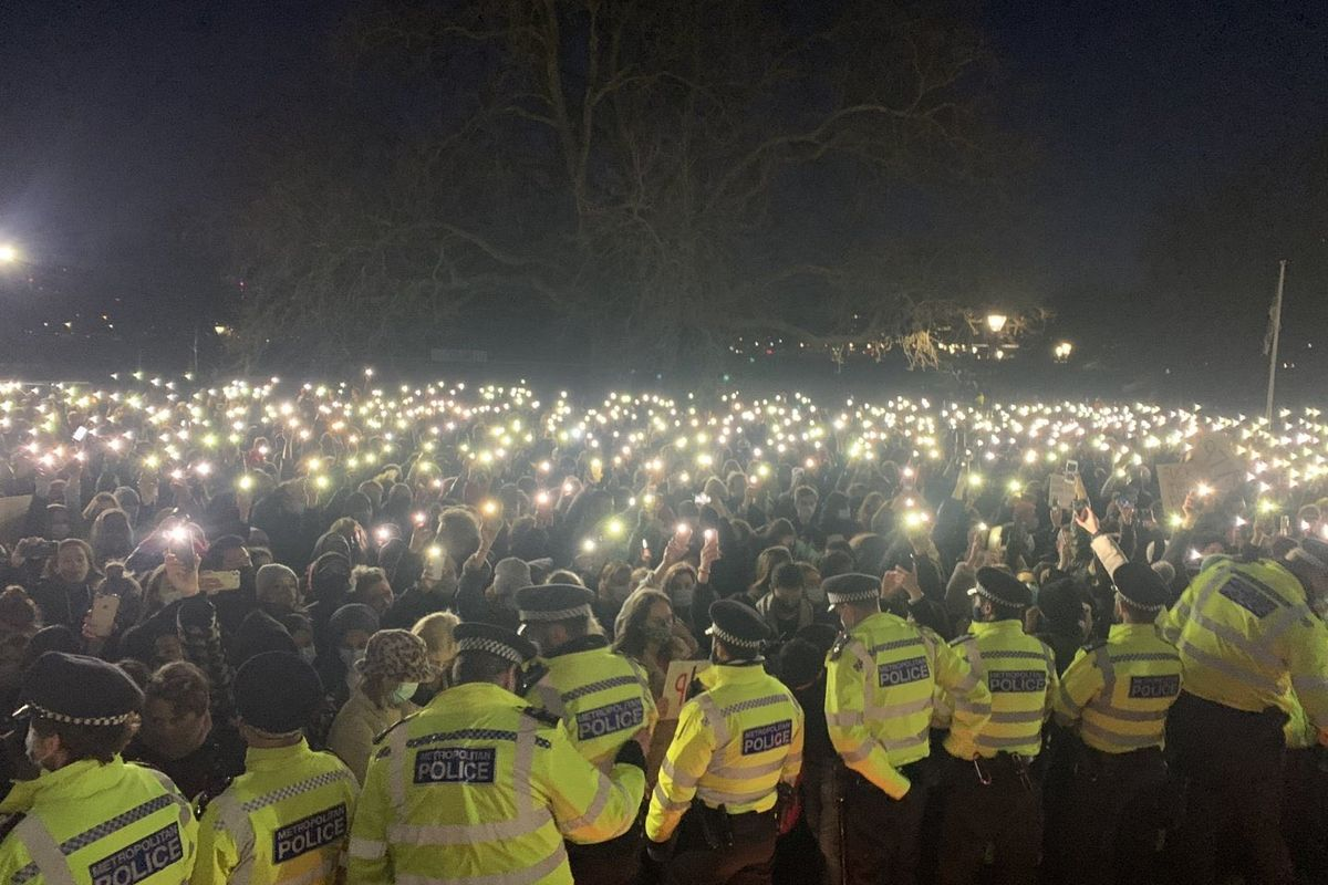 London police chief faces calls to resign after officers smash vigil to murdered Sarah Everard
