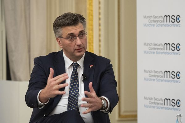 Prime Minister Andrej Plenkovic, from HDZ