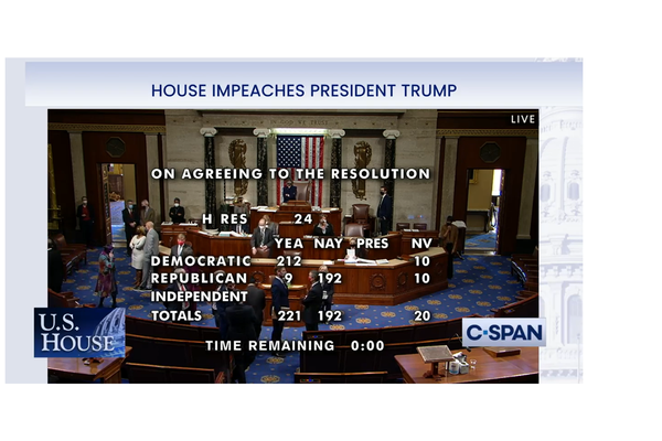 US House impeaches Donald Trump for the second time