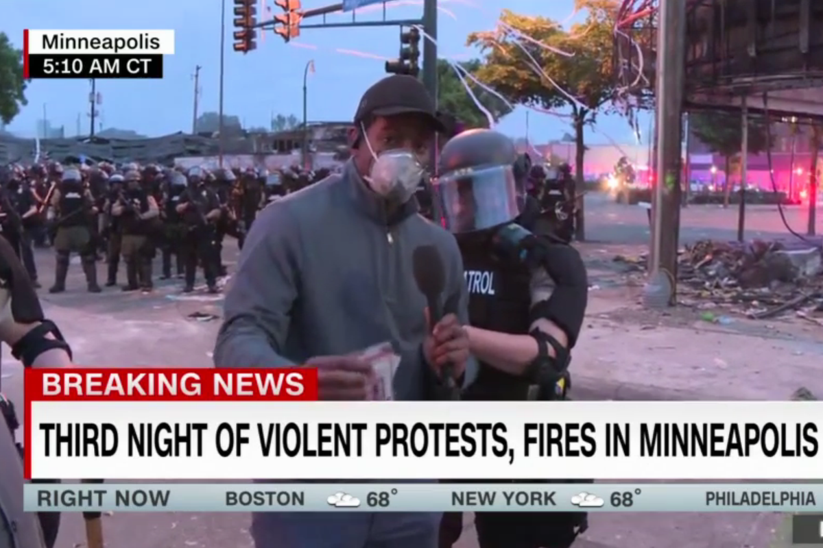 CNN announces that journalists have been released from police custody