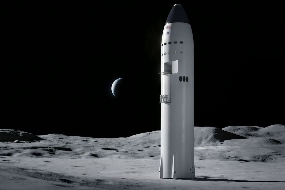 SpaceX wins $2.9 billion contract to build moon lander for NASA's Artemis program