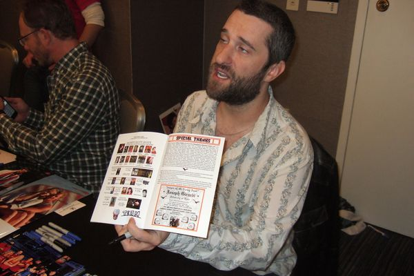 Dustin Diamond during a convention
