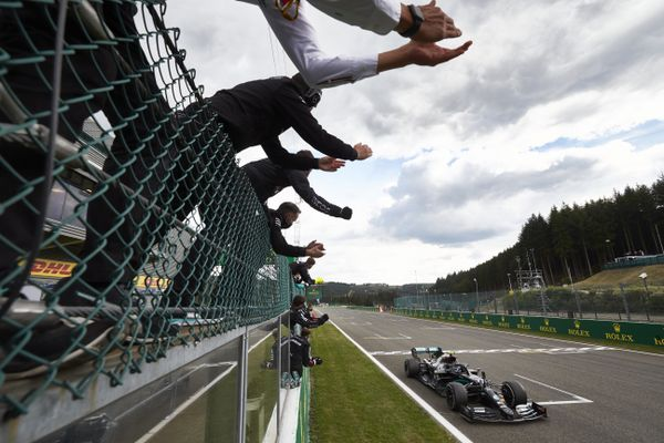 F1: Lewis Hamilton wins Belgian GP, celebrates his 89th victory