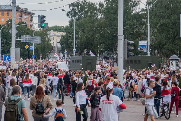 "Protest rally against Lukashenko (""Women's march""), 29 August 2020. Minsk, Belarus"