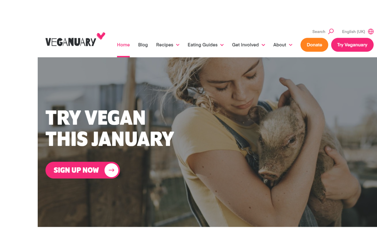Study proves the impact of the Veganuary in water and CO2 savings