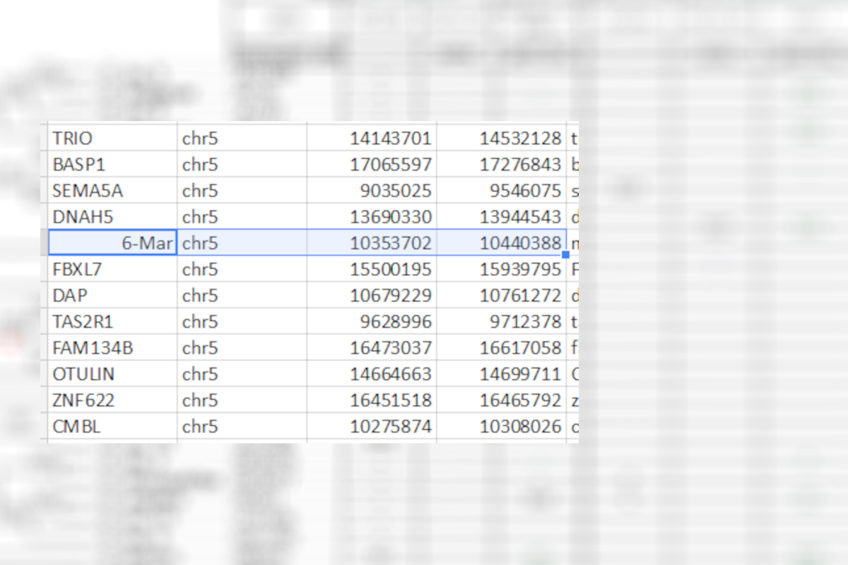 Scientists rename human genes to avoid Microsoft Excel misreading them as dates