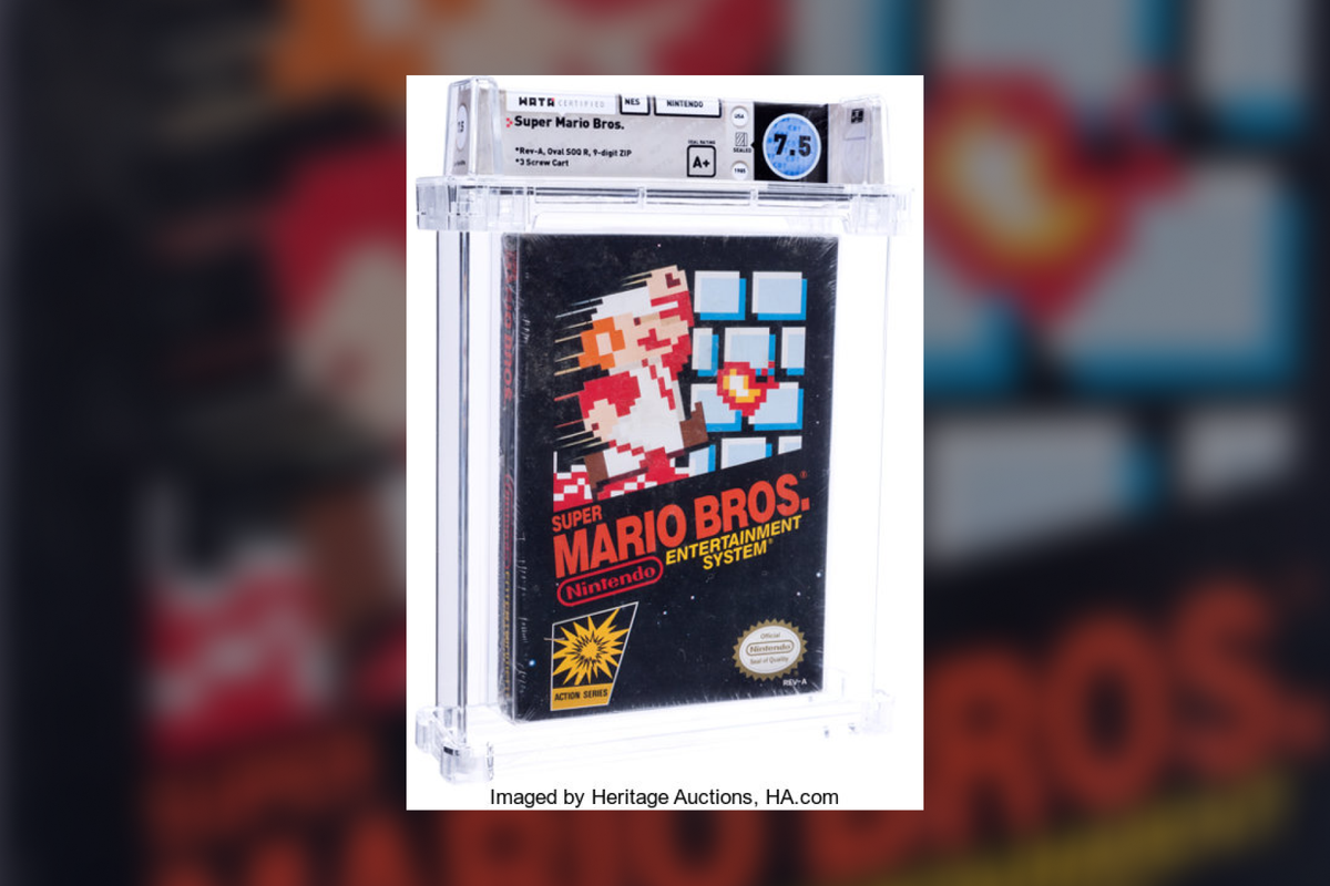 """Copy of """"Super Mario Bros."""" sold for $114,000 at auction"""
