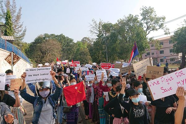 Protest against military coup (9 Feb 2021, Hpa-An, Kayin State, Myanmar)