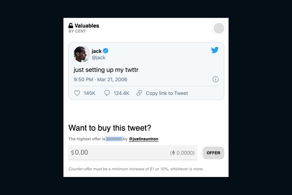 Jack Dorsey to sell his first tweet as an NFT