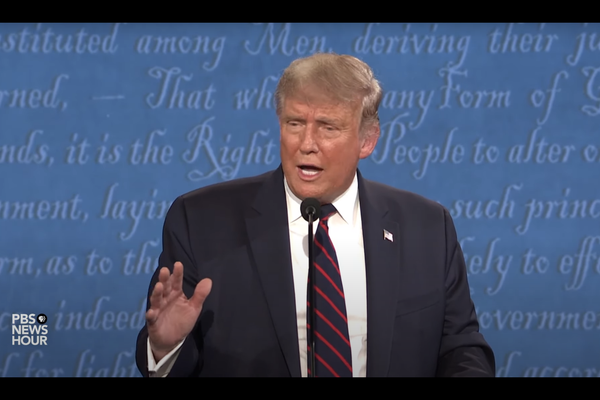 "Presidential Debate: Trump says ""I don't want to pax tax,"" but claims he has paid millions in income taxes"