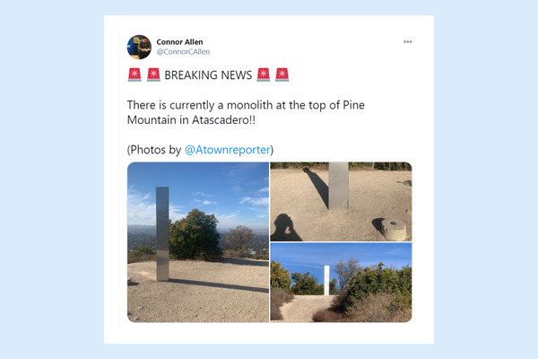New  monolith sighted on top of mountain in California,  San Luis Obispo County