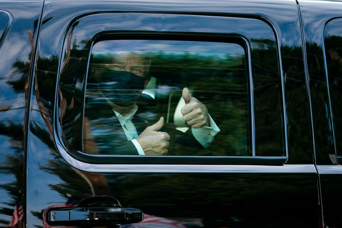 Trump has left Walter Reed Hospital, enters White House without a mask, urges people not to be afraid of Covid-19