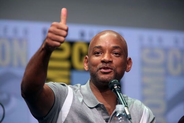Will Smith speaking at the 2017 San Diego Comic Con International