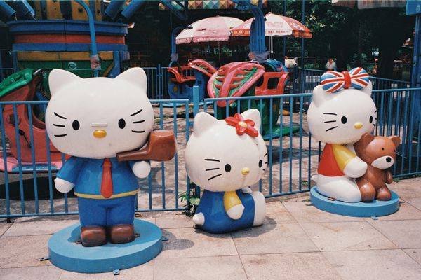 Hello Kitty figures at an amusement park in Guangzhou, China