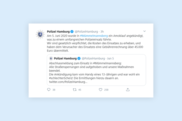 German police charges family of 13-year old student €45,000 for fake amok call