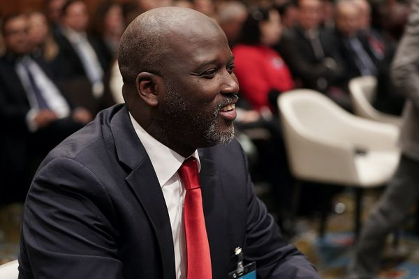 Abubaccar Tambadou, Minister of Justice and Attorney General, at the International Court of Justice, in January 2020