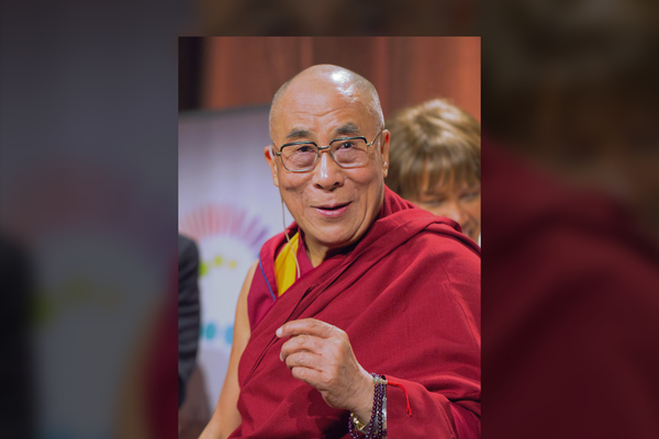 Tenzin Gyatso, the 14th Dalai Lama in 2021