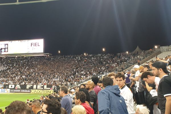 Corinthians supporters during a match in 2019