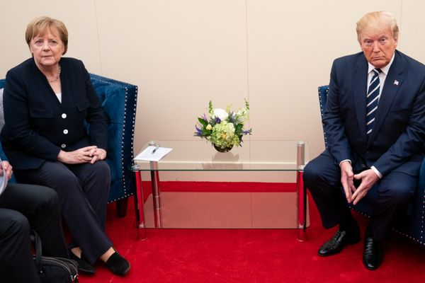 U.S. President Donald J. Trump and German Chancellor Angela Merkel