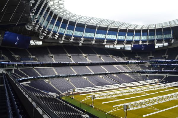 View of North Stand in Tottenham Hotspur Stadium from East Stand