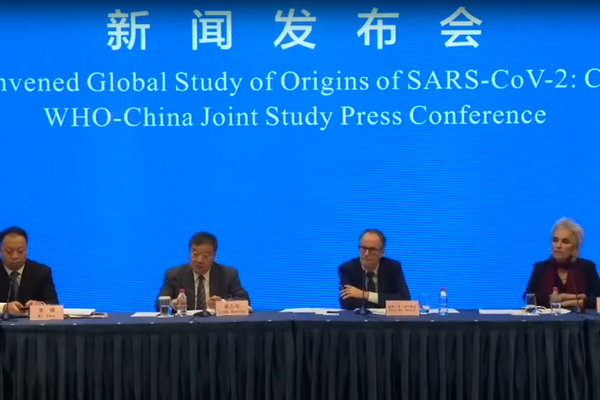 WHO press conference in Wuhan