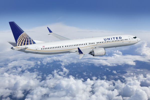 An United Airlines Boeing 737 Max 9