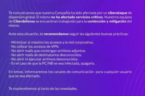Argentina: Telecom falls victim to a ransomware, attackers demand $7.5 million