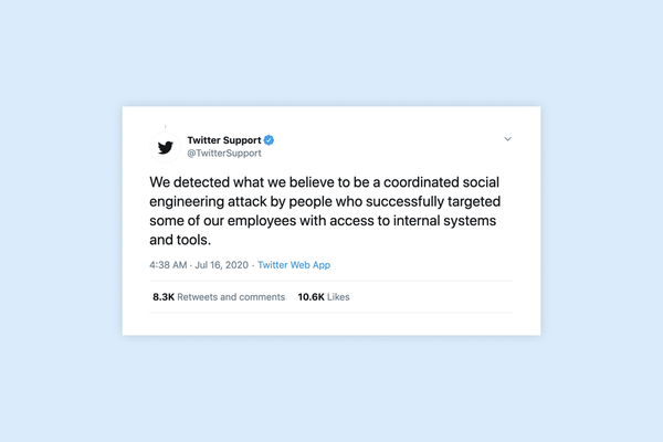 Dozens of top tier Twitter Accounts compromised and used for scam tweets