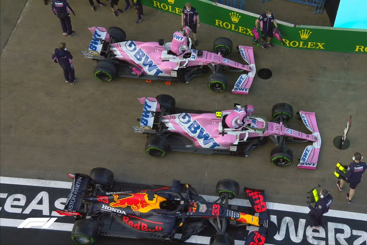 Lance Stroll takes Turkish Grand Prix pole position after a chaotic qualifying session.