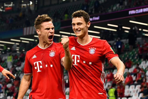 Kimmich and Pavard celebrate a goal during the FIFA Club World Cup