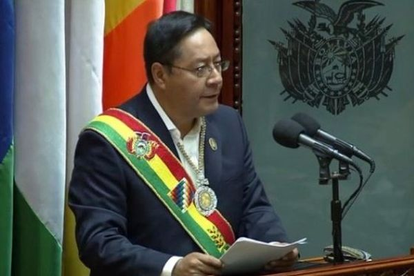 Luis Arce was sworn in as Bolivia's president