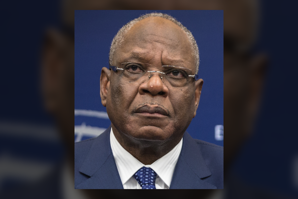 The President of the Malian Republic, Ibrahim Boubacar Keïta at the European Parliament in Strasbourg on December 10, 2013