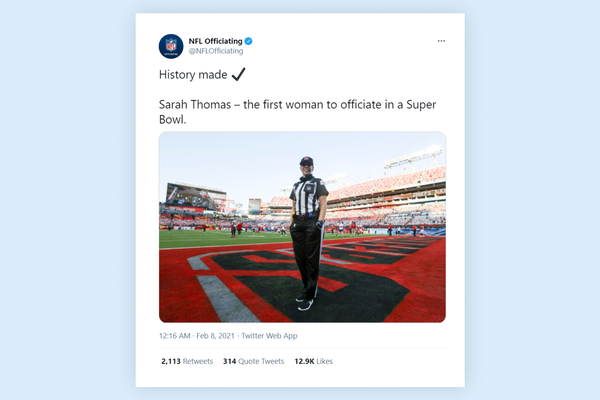 Sarah Thomas First female referee in Super Bowl history