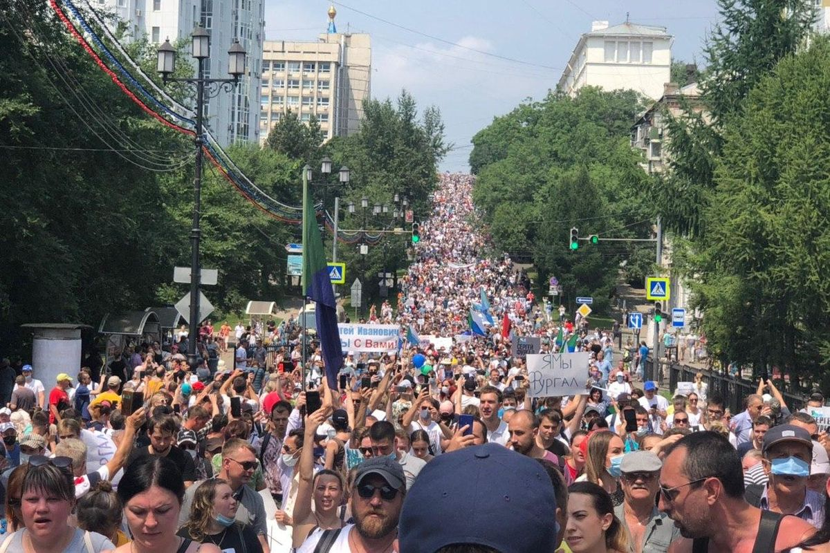 Protests in east Russia continue