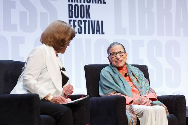 n U.S. Supreme Court Justice Ruth Bader Ginsburg speaks on the Main Stage of the National Book Festival, August 31, 2019. Photo by Shawn Miller/Library of Congress.