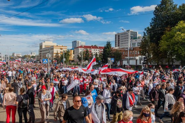 Protest rally against Lukashenko, 13 September 2020. Minsk, Belarus
