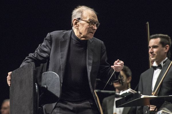 Ennio Morricone at the Festhalle Frankfurt in 2015