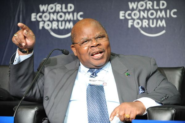 The late Benjamin William Mkapa, third President of Tanzania, during World Economic Forum on Africa 2010.